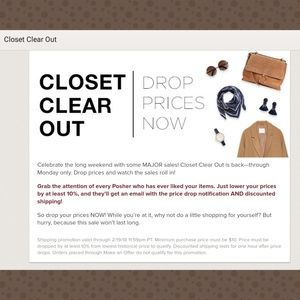 Closet Clear Out! 2 days only
